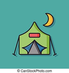 camp tent vector icon