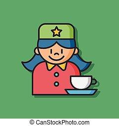 coffee barista vector icon