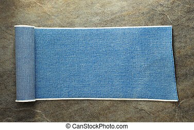 blue jeans texture at table