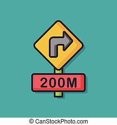 road signpost vector icon