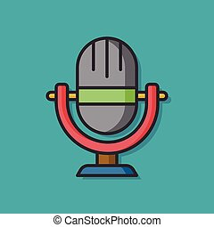 media microphone vector icon