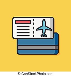 airplane ticket vector icon