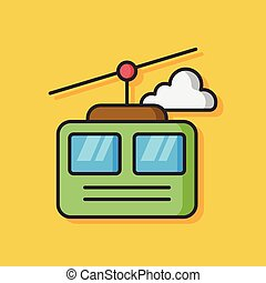 cable car vector icon