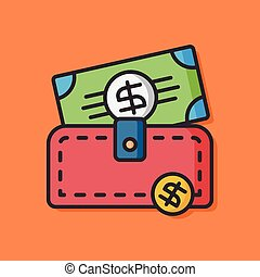 money wallet vector icon