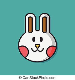 pet rabbit vector icon