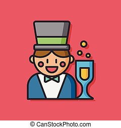 party magician vector icon