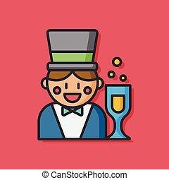 party magician vector icon