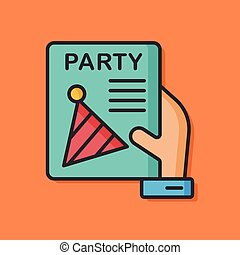 birthday party card icon