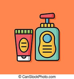 shampoo bottle vector icon