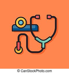 Stethoscope medical vector icon
