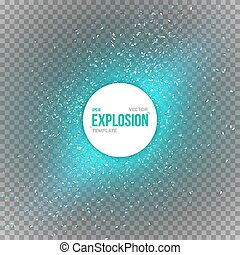 Vector Confetti Explosion Special Effect Isolated on...