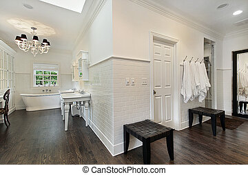 Master bath with dressing area