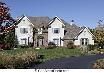 Luxury home with circular driveway - Luxury home in suburbs...