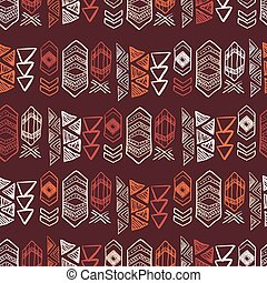 Native American Seamless Pattern with abstract aztec...