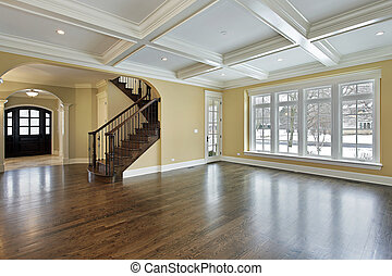 Family room with foyer view - Family room in new...