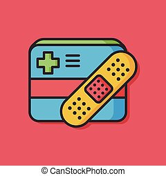 medical bandage vector icon