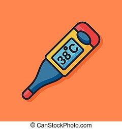 Thermometer temperature vector icon
