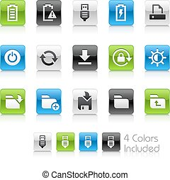 Web and Mobile Icons 3 - The vector file Includes 4 color...