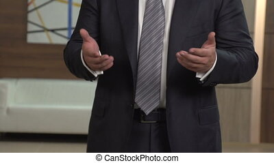Gestures hands man in suit 2 - Gestures male hands while...