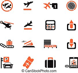 Airport icons - Airport simply symbols for web and user...