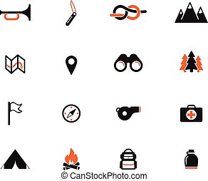 Boy scout simply icons for web and user interface