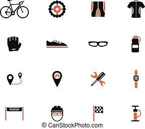 Bycicle simply icons for web and user interface
