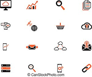 Data analytic simply icons for web and user interface