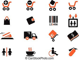 Shopping icons - Shopping simply symbols for web and user...