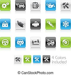 Car Service Icons - The vector file Includes 4 color...