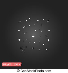 starry sky icon - Starry sky White flat simple vector icon...