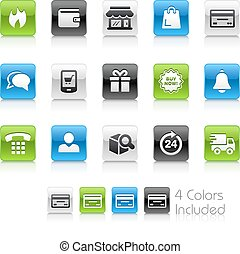 e-Shopping Icons - The vector file Includes 4 color versions...