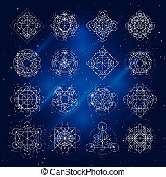 Vector Magic Geometry Signs - Magic geometry signs Vector...