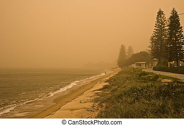 Dust Storm - Severe dust storm on 2009-09-23 in Redcliffe,...