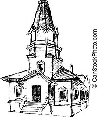 The church, vector illustration for your design