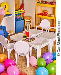Interior of a kindergarten.