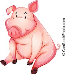 clipart vecteur de graisse cochon graisse dessin anim cochon manger csp25475209. Black Bedroom Furniture Sets. Home Design Ideas