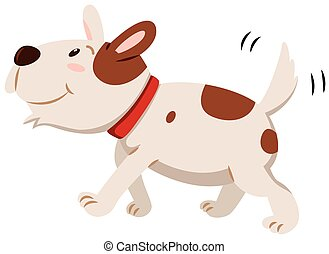 Little dog wagging its tail illustration