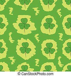 Seamless painted shamrocks - Seamless texture with the...