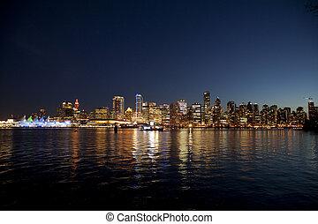 vancouver bc at night