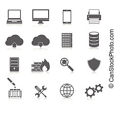 Computer Service and Maintain Icons Editable EPS vector...