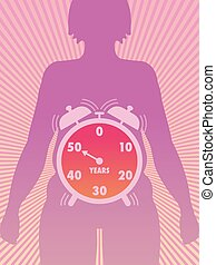 menopause - Medical symbolic illustration that shows the...