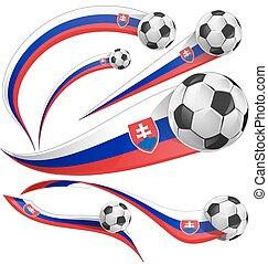 Slovakia flag with soccer ball