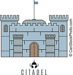 Castle icon Flat style