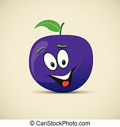 happy plum face