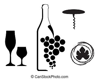 wine type designs - Vector splashes and bolts prints...