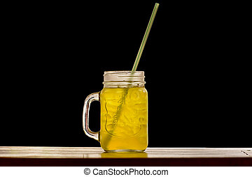 Soft Drink - A soft drink isolated on a black background.
