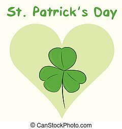 St Patricks Day and heart - Conceptual illustration with a...