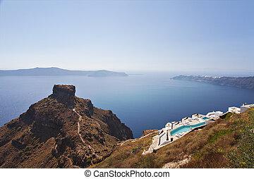 Santorini island - Image of Santorini island and the Skaros...