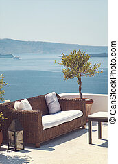 Patio with sea view