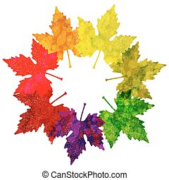 Leaf abstract background Vector illustration, EPS10 - Autumn...